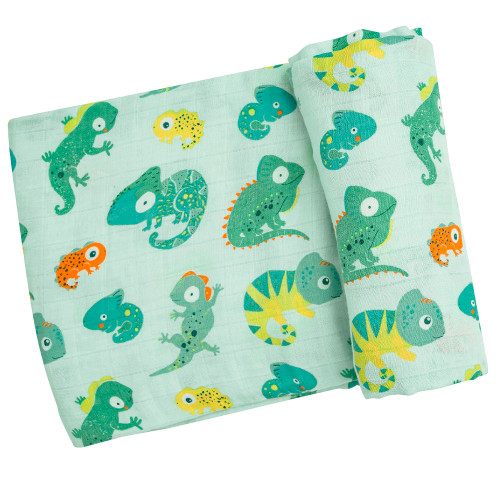 Muslin Swaddle, Lizards