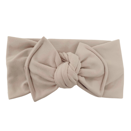 Headwrap Bow, Sand
