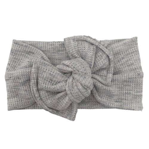 Headwrap Bow, Melange Grey