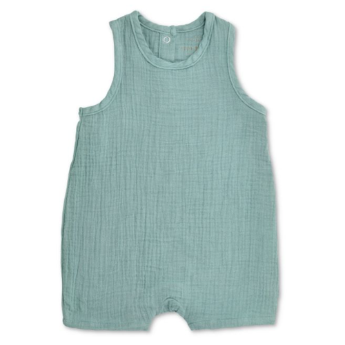 Sleeveless Coverall, Teal