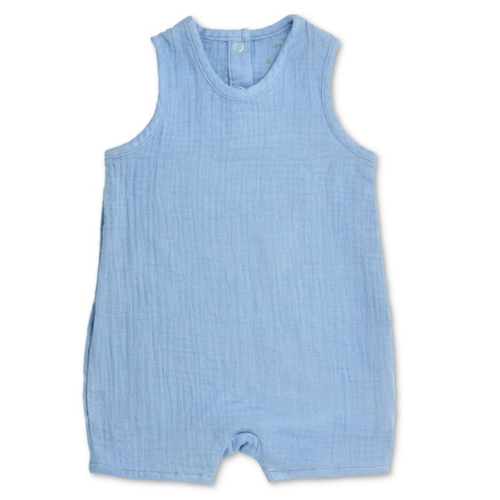 Sleeveless Coverall, Blue