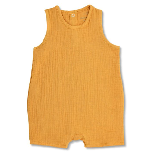Sleeveless Coverall, Mustard