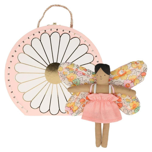 Mini Suitcase w/ Doll, Butterfly Daisy