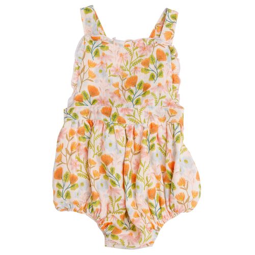 Ruffle Bib Sunsuit, Honest Earth