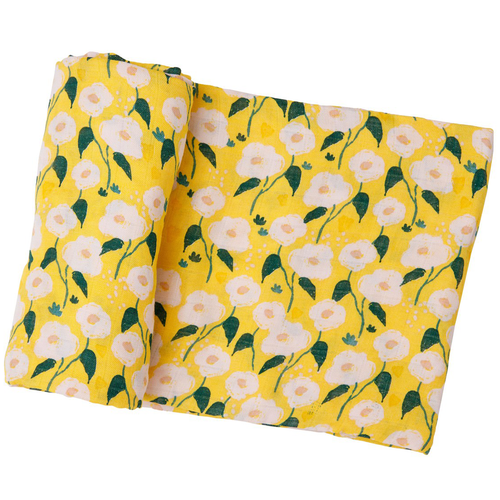 Muslin Swaddle, Golden Floral