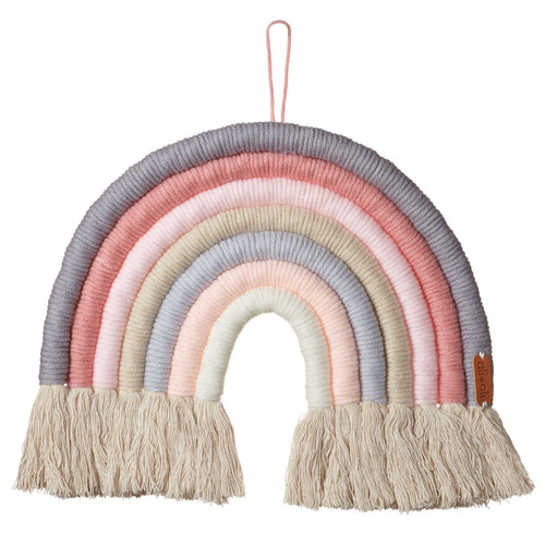 Macrame Wall Decor, Ice Cream Rainbow