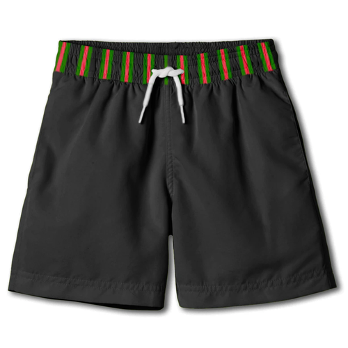 Black w/ Stripe Board Shorts Swim Trunks