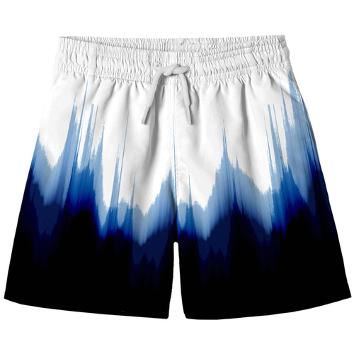 White Dipped Board Shorts Swim Trunks