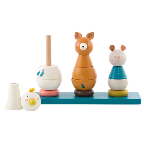 Wooden Stack Up Animals Toy