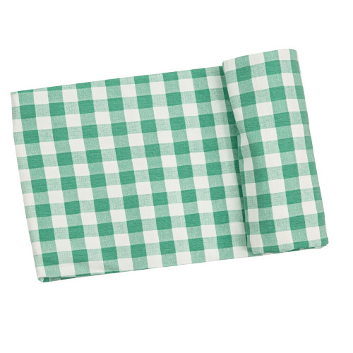 Bamboo Stretch Swaddle, Green Gingham