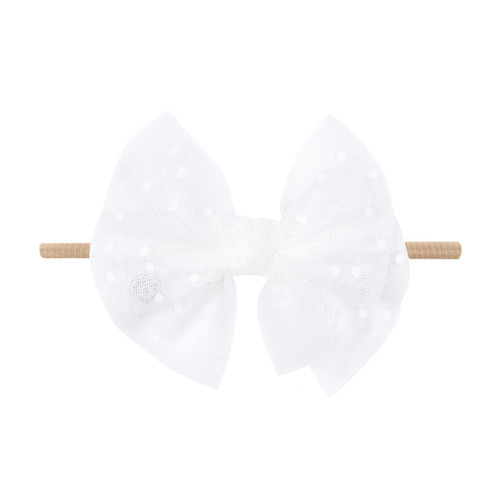 Tulle FAB-BOW-LOUS Skinny Bow, White