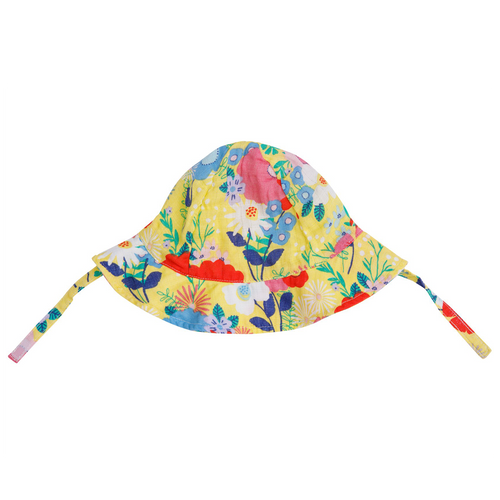 Sunhat, Yellow Multi Floral