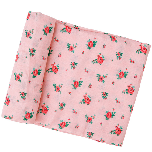 Muslin Swaddle, Mini Rose