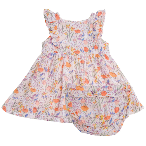 Dress & Bloomer Set, Springtime Floral