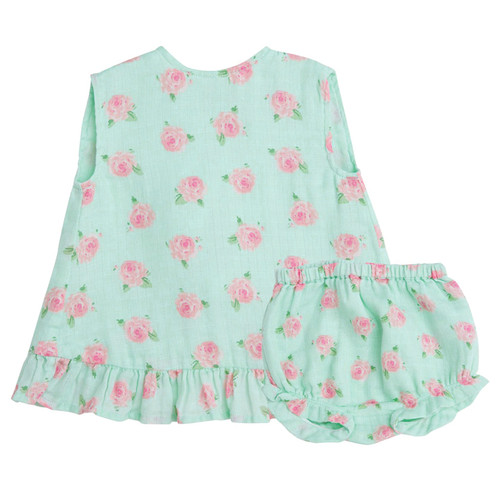 Ruffle Top & Bloomer, Petite Rose Mint