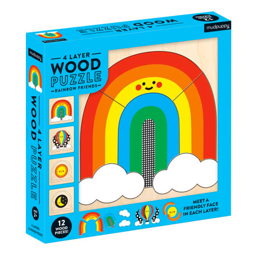 Rainbow Friends 4-Layer Wood Puzzle