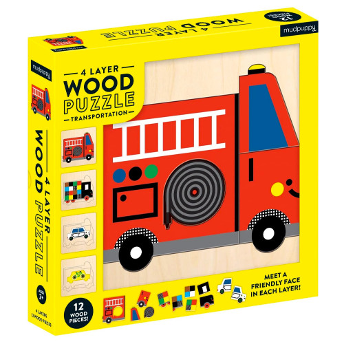 Transportation 4-Layer Wood Puzzle