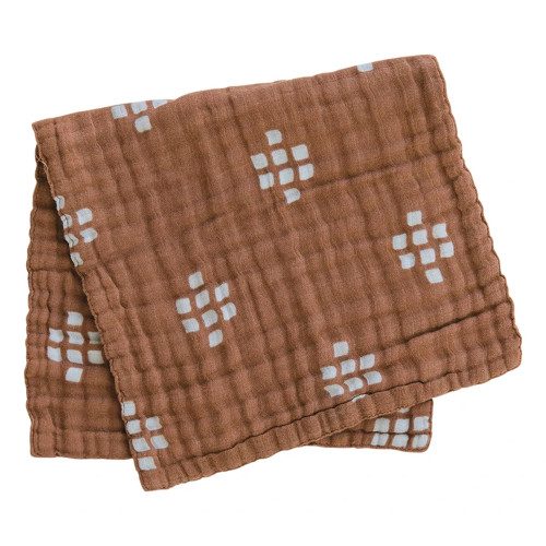 Muslin Burp Cloth, Chestnut Textiles