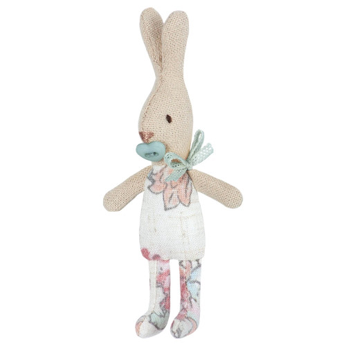 Micro Baby Bunny with Blue Pacifier, Floral