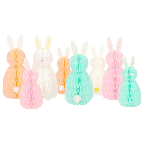 Honeycomb Bunnies Decor