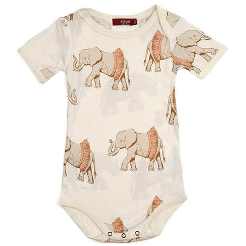 Tutu Elephant Short Sleeve Bodysuit