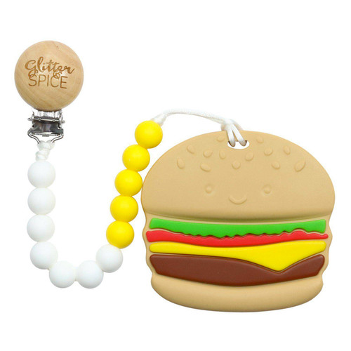 Teether with Clip, Burger