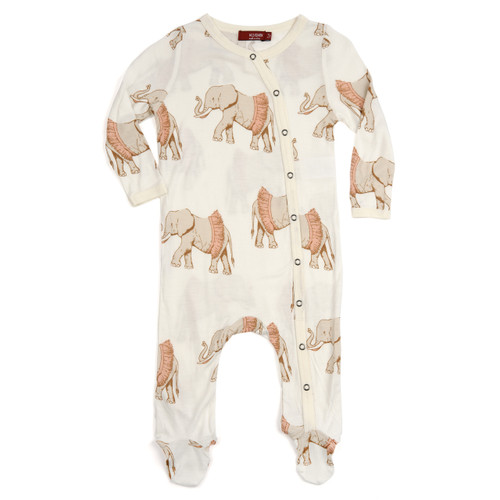 Tutu Elephant Footed Romper