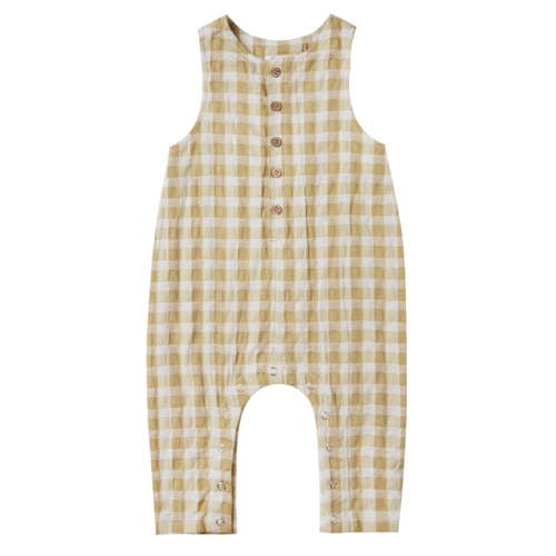 Rylee & Cru Button Jumpsuit, Gingham