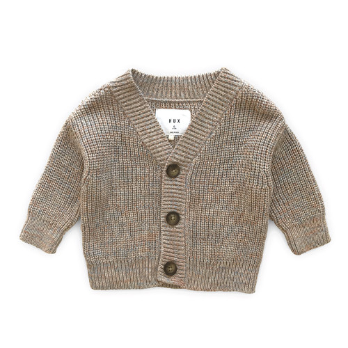 Marl Knit Cardigan, Oat Almond