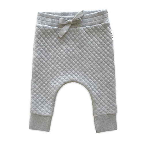 Drop Crotch Pant, Grey Marle Stitch
