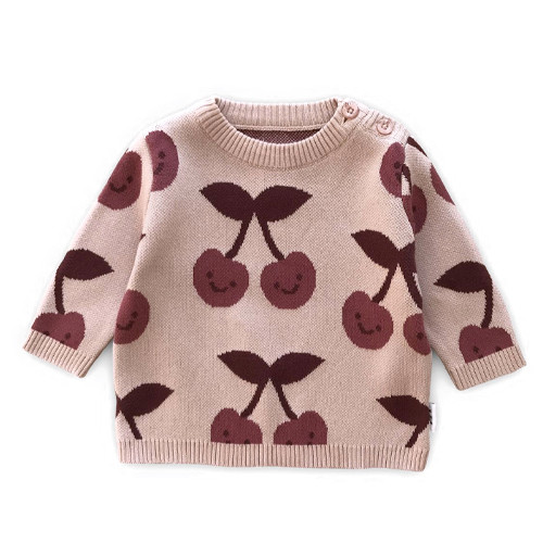 Knit Jumper, Cherry