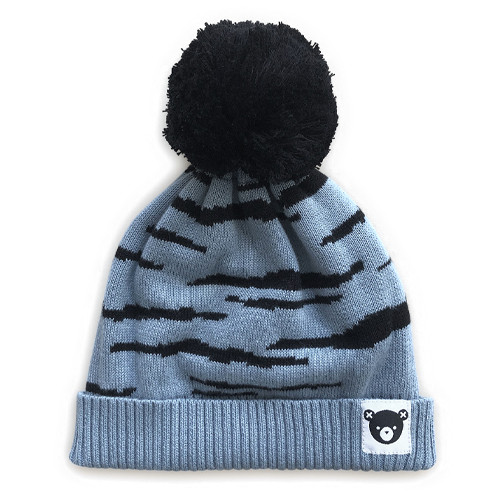 Knit Beanie, Denim Wildcat