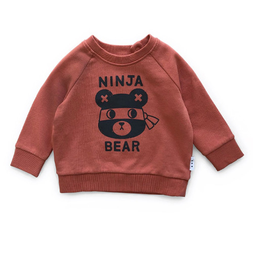 Sweatshirt, Ninja Bear