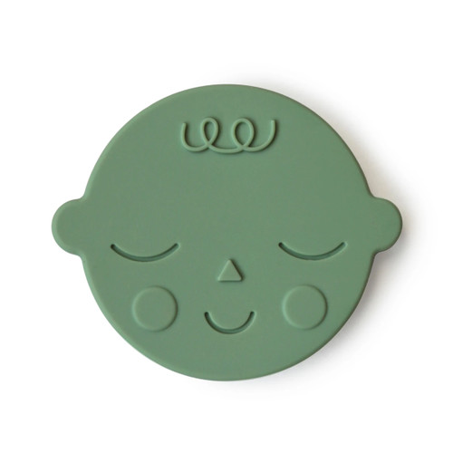 Silicone Face Teether, Pistachio