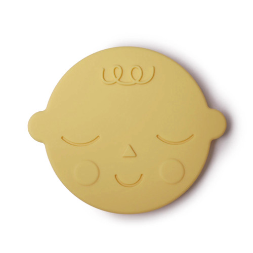 Silicone Face Teether, Banana Cream