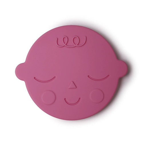 Silicone Face Teether, Bubblegum