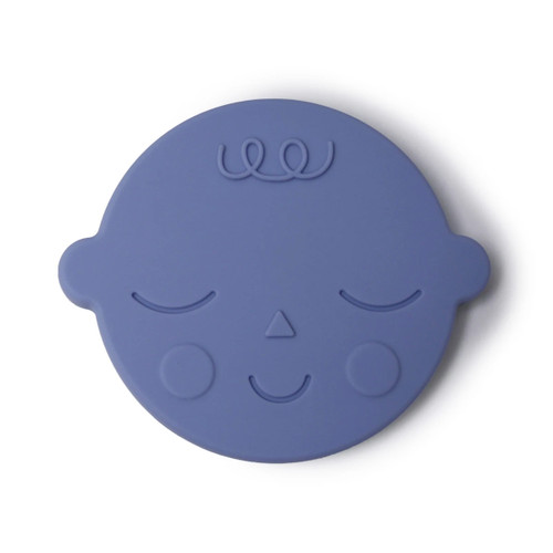 Silicone Face Teether, Blueberry