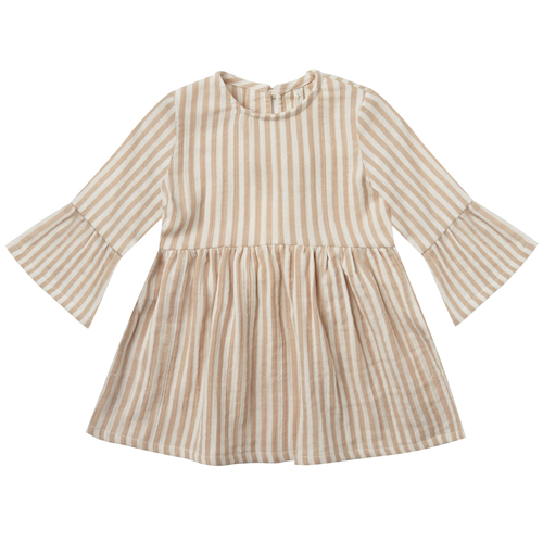 Rylee & Cru Bell Dress, Almond Striped