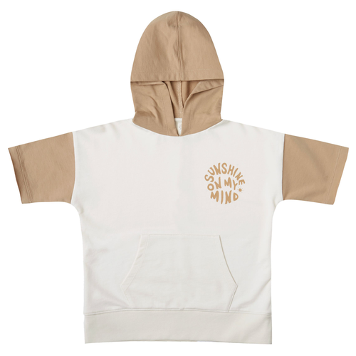 Rylee & Cru Short Sleeve Hoodie, Sunshine On My Mind