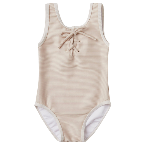 Rylee & Cru Laced Onepiece Swimsuit, Shell
