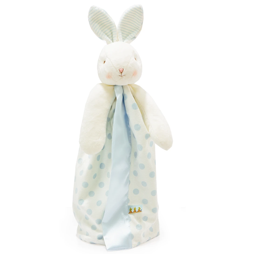 Bud Polka Dot Bunny Buddy Blanket, Blue