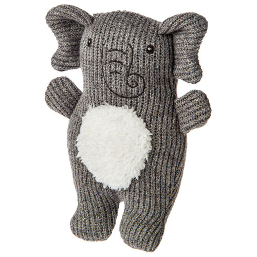 Knitted Nursery Elephant Rattle, 7""