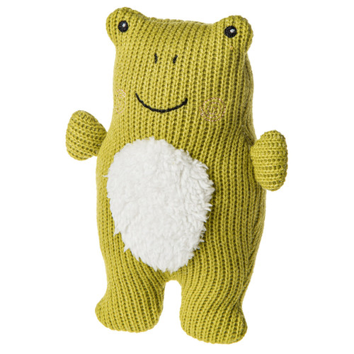 Knitted Nursery Frog Rattle, 7""