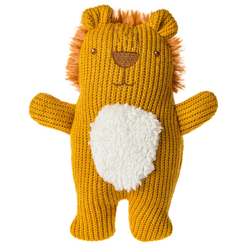 """Knitted Nursery Lion Rattle, 7"""""""