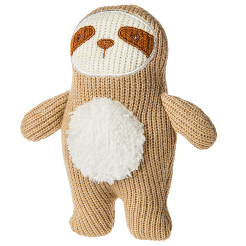Knitted Nursery Sloth Rattle, 7""