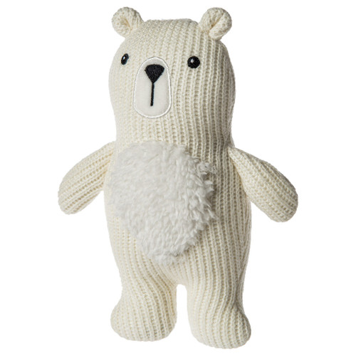 Knitted Nursery Polar Bear Rattle, 7""