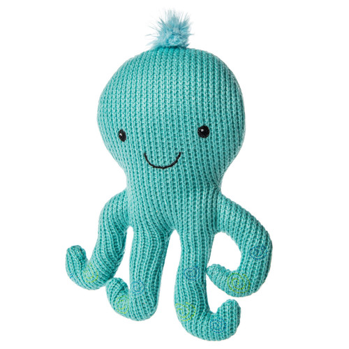 Knitted Nursery Octopus Rattle, 7""