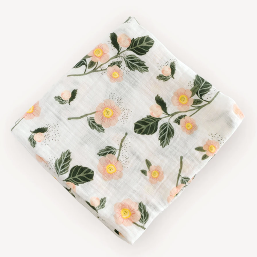 Muslin Swaddle, Blushing Bloom