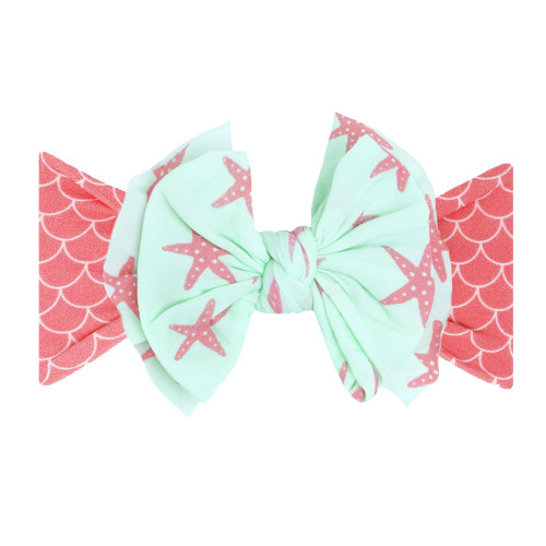 FAB-BOW-LOUS Bow, Coral Mermaid