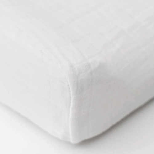 Muslin Changing Pad Cover, White